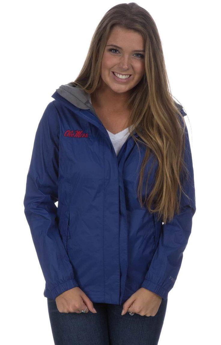 Ole Miss Collegiate Rain Jacket Navy / S