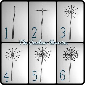 How to draw a dandelion - great for pyrography