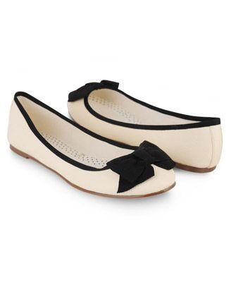 Bow Trimmed Ballet Flats | FOREVER21 - 2000041175
