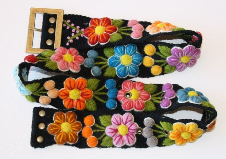 Embroidered Wool Belt hand made in Peru. #fairtrade Just $65 delivered anywhere in Australia.