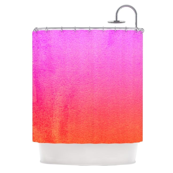 Kess InHouse Monika Strigel Fruit Punch Magenta Orange Shower Curtain