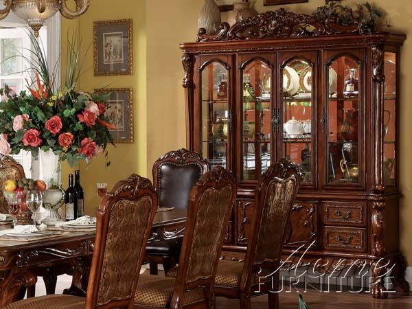 Dresden Cherry Oak Buffet Hutch 12155B By Acme