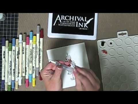 Watercoloring with Distress Markers