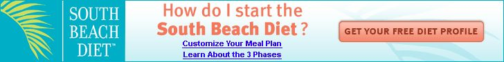 all three phases of south beach diet and foods that are allowed and not allowed for each phase along with a menu plan.