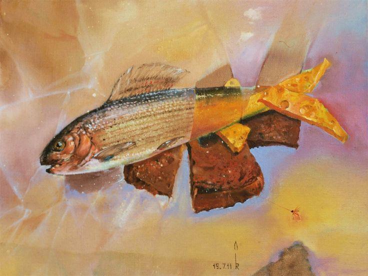 Бутерброд с рыбой (хариус)