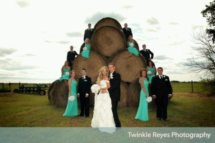 Turquoise Country Wedding (: very cute