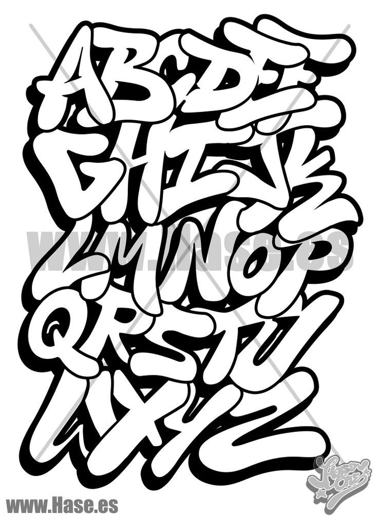 graffiti writing alphabet bubble abcya