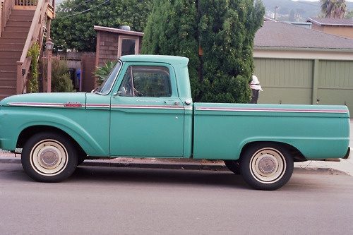 I always wanted an old pickup truck. Just like this. Or a yellow jeep, of course... but mostly this.