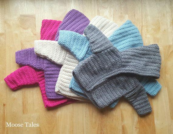 Moose Tales: Crochet Hooded Baby Sweater #babylove #moosetales #babyhoodie #babysweater #babycrochet