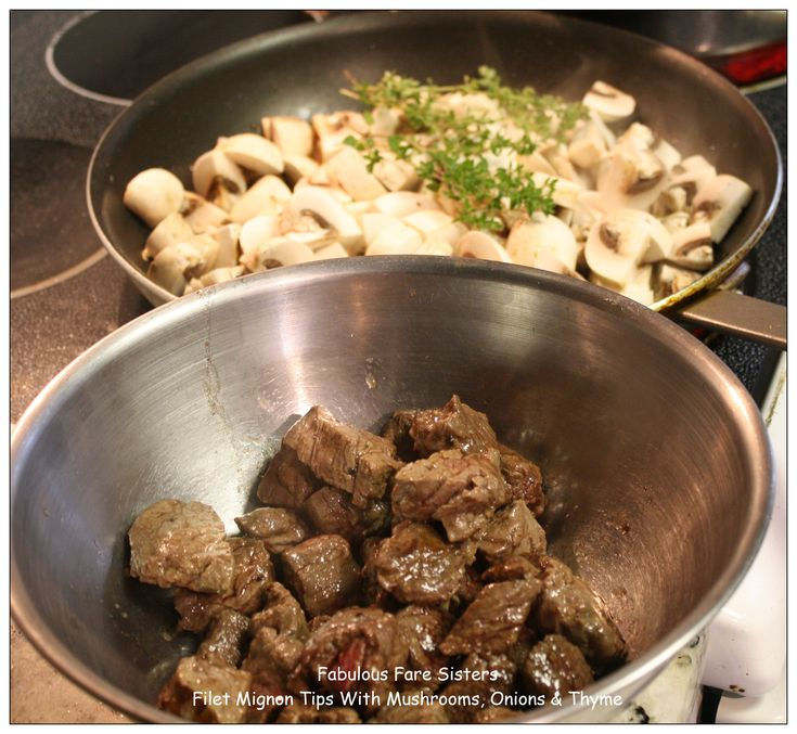 Filet Mignon Tips With Mushrooms, Onions & Thyme 3