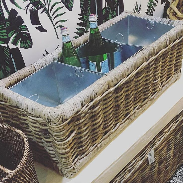 Entertaining this weekend? Our Planter Basket doubles as the perfect Ice Cooler too! @ebbflowboutique
