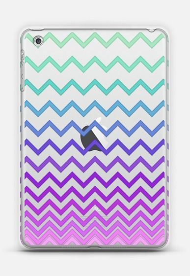 Pastel Ombre Chevron Transparent iPad Mini case.