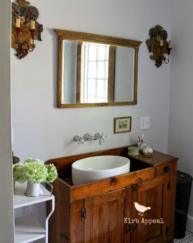 Kirb appeal bathroom reveal two down one to go for Funky bathroom vanities