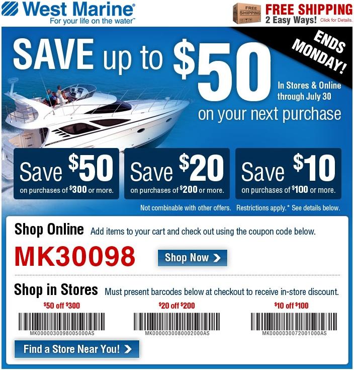 Westmarine coupon code
