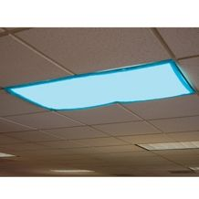 Classroom Light Filters (Fluorescent Light Covers)  - create calm space - diffuses glare of fluorescent lights - reduces eyestrain - attaches with magnets - available in multiple colours