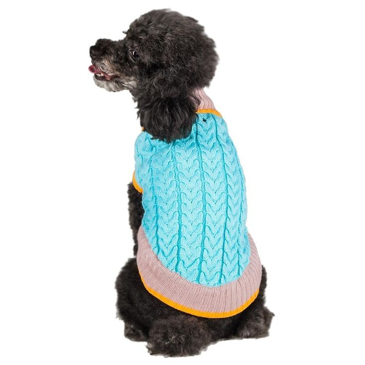 Blueberry Pet the Timeless Classic Cable Knit Turtle Neck Baby Blue Dog Sweater, Back Length 12', Pack of 1 Clothes for Dogs * To view further for this item, visit the image link. (This is an affiliate link and I receive a commission for the sales)