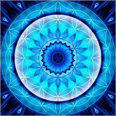 Mandala Ehrlichkeit mit Blume des Lebens