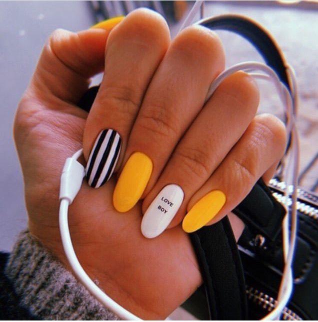 Летний маникюр. Как вам идея? | Ногти, Дизайнерские ногти ...