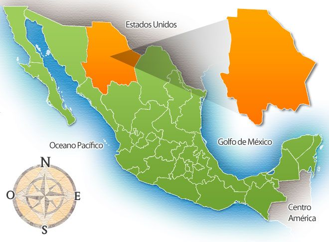 Estado de Chihuahua Mapa | 18 april 2012 territorio nombre chihuahua capital chihuahua extension ...