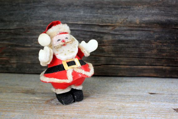 Rare Santa Candy Holder Kitchy Plastic : vintage by umbrellafant