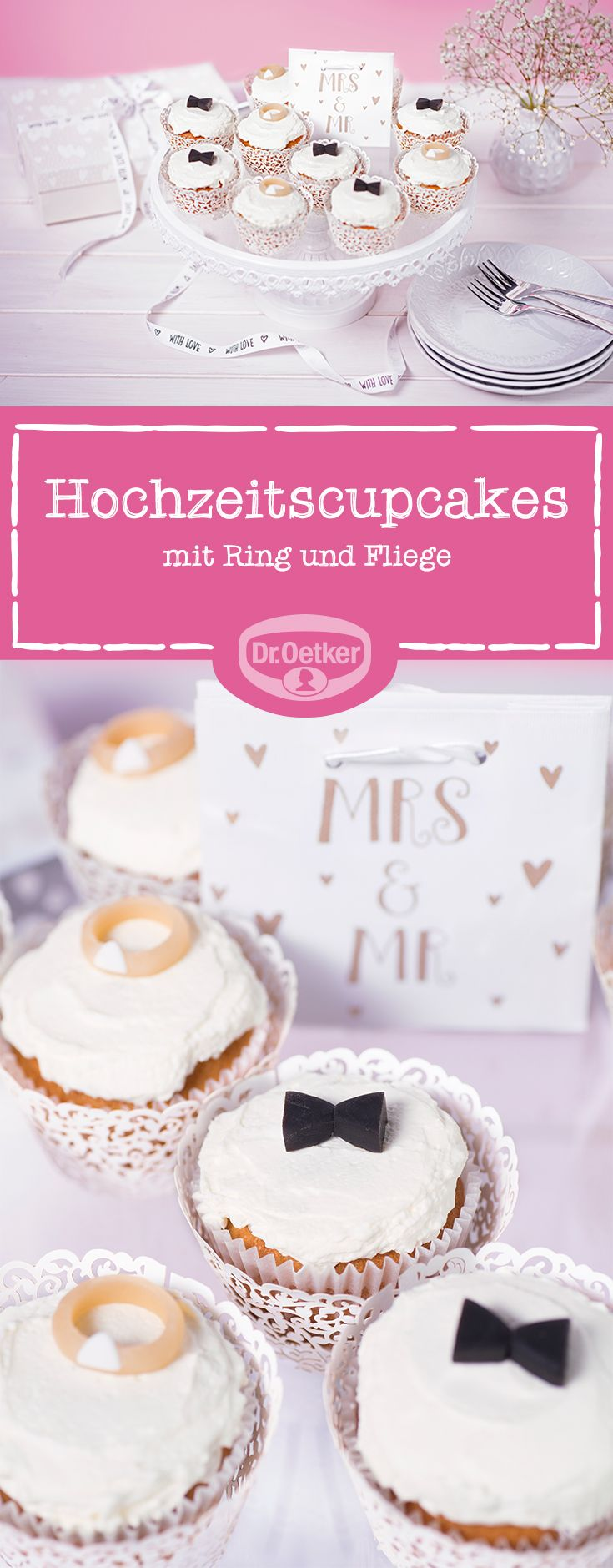 Wedding cupcakes: a cupcake for you, a cupcake for him – this duo …   – Muffins, Cupcakes und Co.