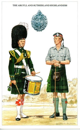 The Argyll and Sutherland Highlanders, post card
