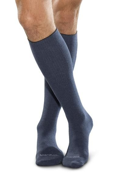 Smartknit X-Static Seamless Diabetic Socks - Black Over the Calf - $42.00  Diabetic Socks are recognised as the first layer of protection in diabetic foot care to help reduce the risks of pressure, constriction, excess moisture and infection. Not all socks are created equal - the most comprehensive protection is found in the patented SmartKnit® Seamless Diabetic Socks.