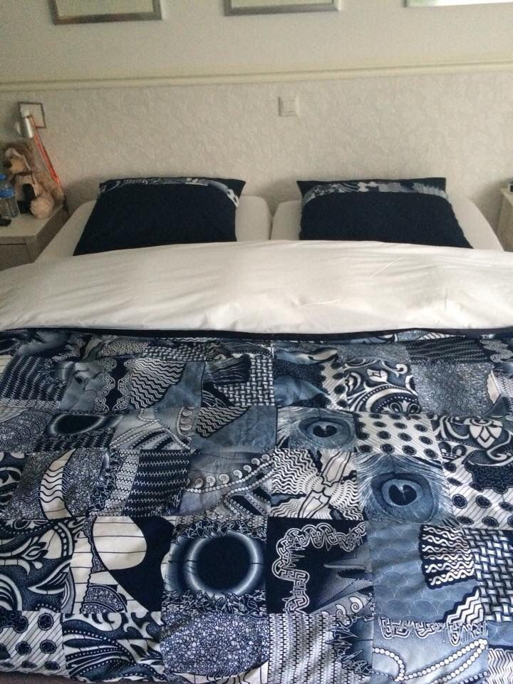 End result bed cover Vlisco fabrics
