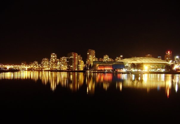 Night view 1 - Vancouver, BC - photograph taken by Rosalia Marie