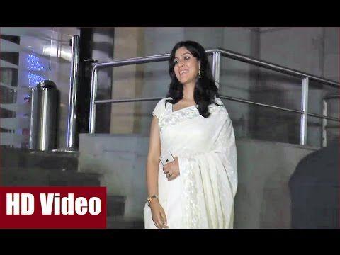 Sakshi Tanwar pretty in white saree at DANGAL screening.