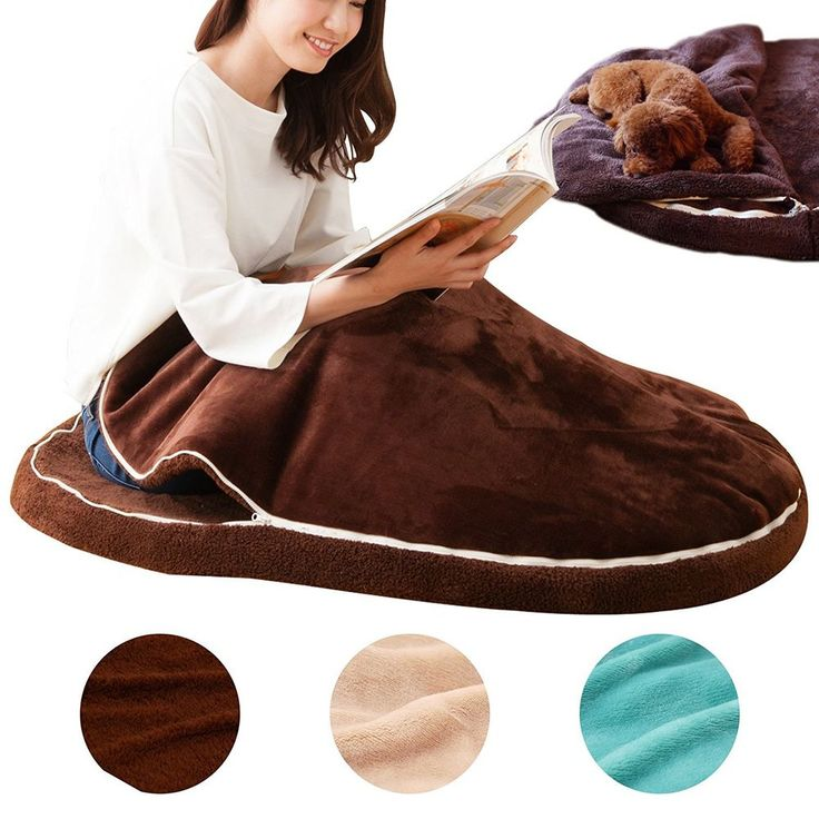 Kotatsu cushion for One person ONLY EMOOR MOGURU Brown from Japan F/S #EMOOR