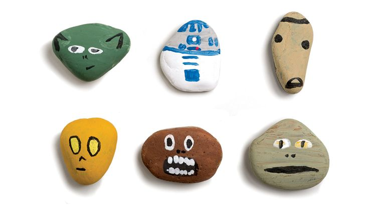 Fun craft idea for kids. Star wars painted pet rock :)