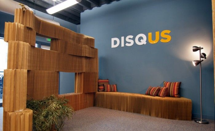 55 Inspirational Office Receptions, Lobbies, and Entryways Like wall bench, pillows, and wood
