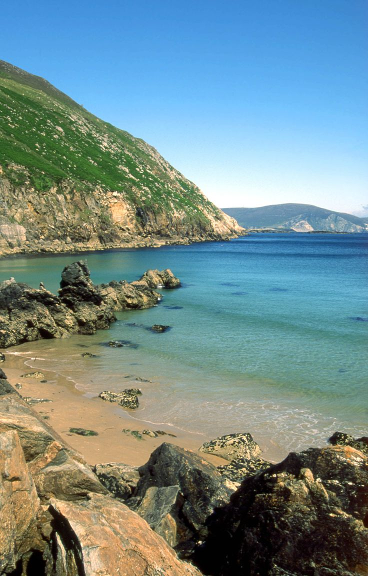 the beauty and colour of keem beach in achill island county mayo