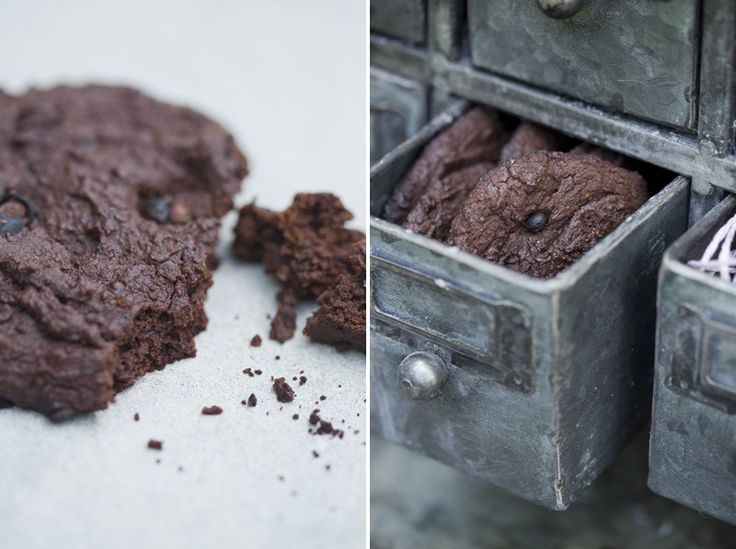 Chocolate black bean cookie