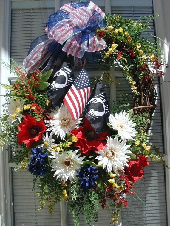 96 Best Fourth Of July Wreaths Images On Pinterest Memorial Day Wreaths Door Wreaths And