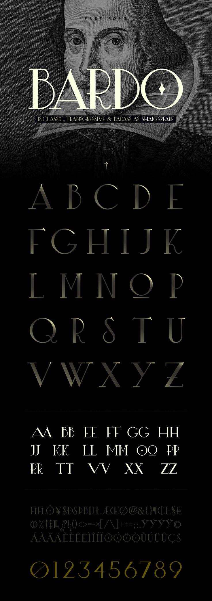 Fresh Free Font Of The Day : Bardo