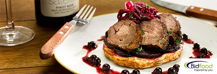 VENISON HAUNCH WITH PICKLED CABBAGE, BEETROOT & BLACKCURRANT recipe by Bidfood UK