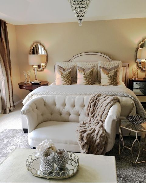 My bedroom with a few new pillows from Wayfair | Farah Merhi