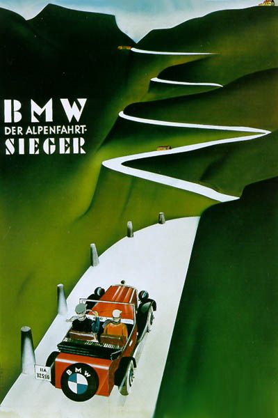 Vintage BMW Poster from 1928