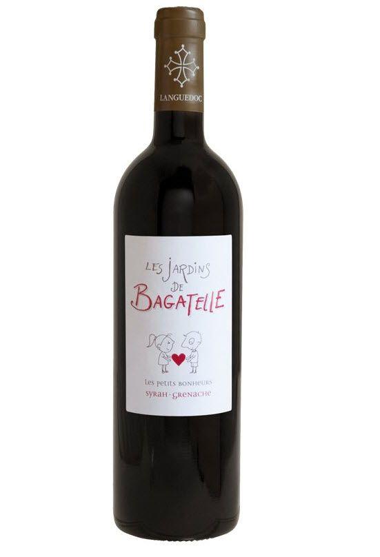 Les Jardins de Bagatelle: comme l'indique l'étiquette, un des petits bonheurs... #vin_rouge #StValentin