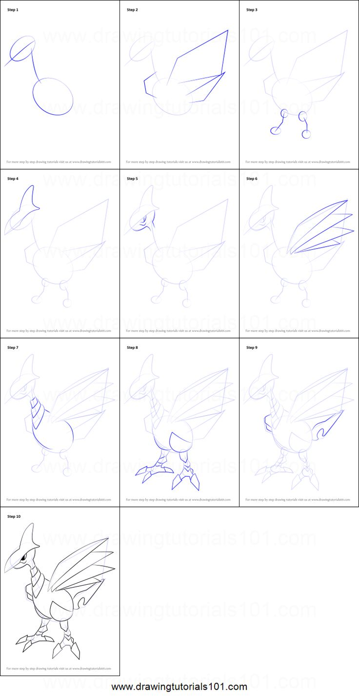 How To Draw Skarmory From Pokemon Printable Step By Step Drawing Sheet Drawingtutorials101 Com Easy Pokemon Drawings Drawing Sheet Drawings
