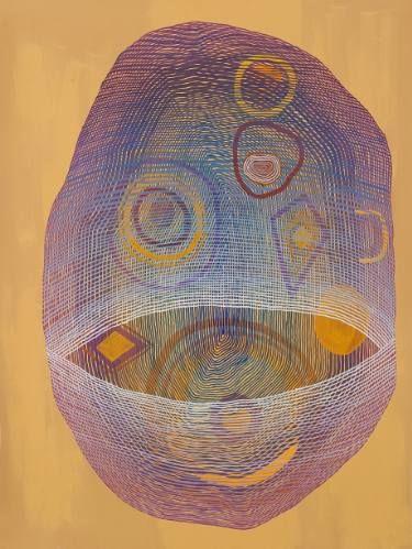 "Saatchi Art Artist Jenny Kemp; Painting, ""Concentricity 5"" #art"