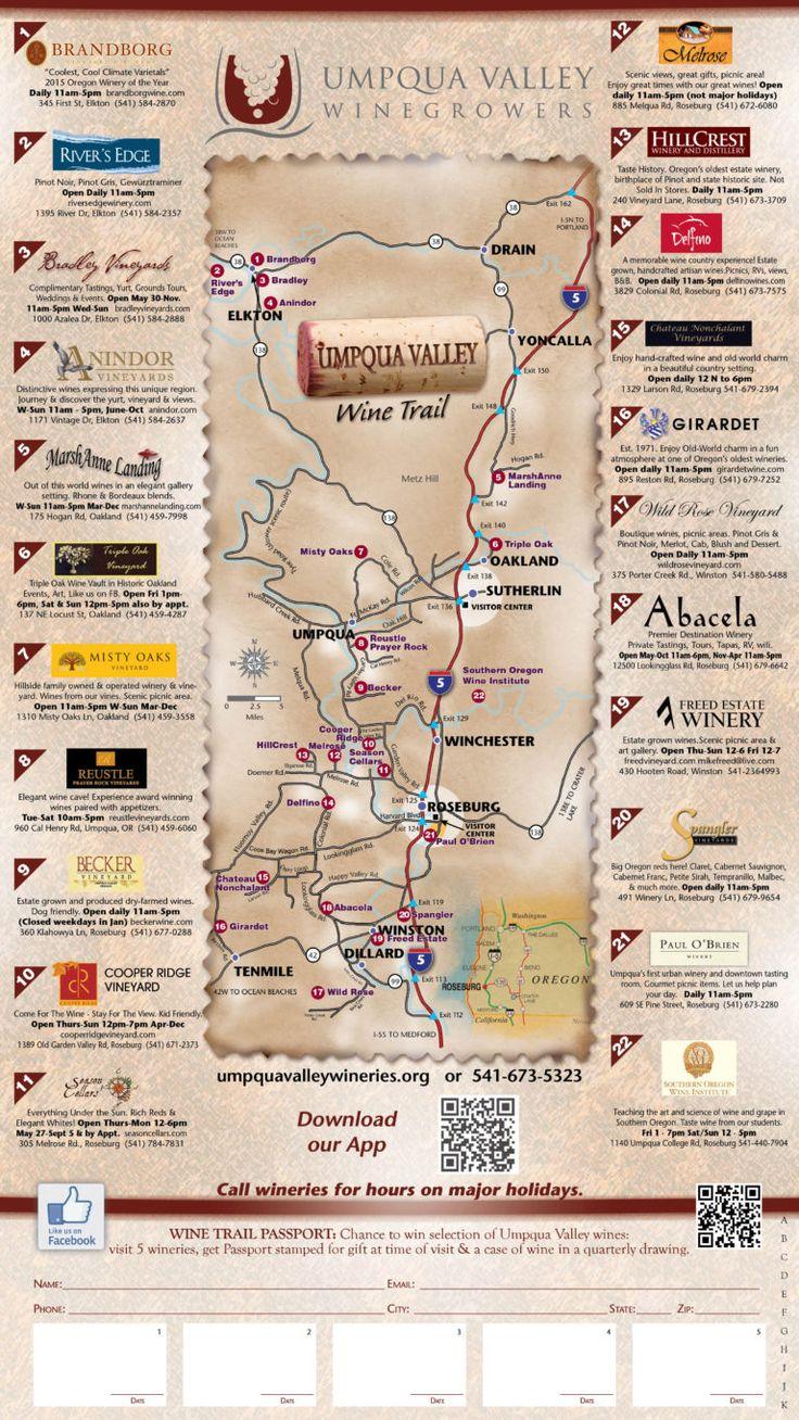 Map Of Oregon Breweries%0A        Umpqua Valley Wine Map