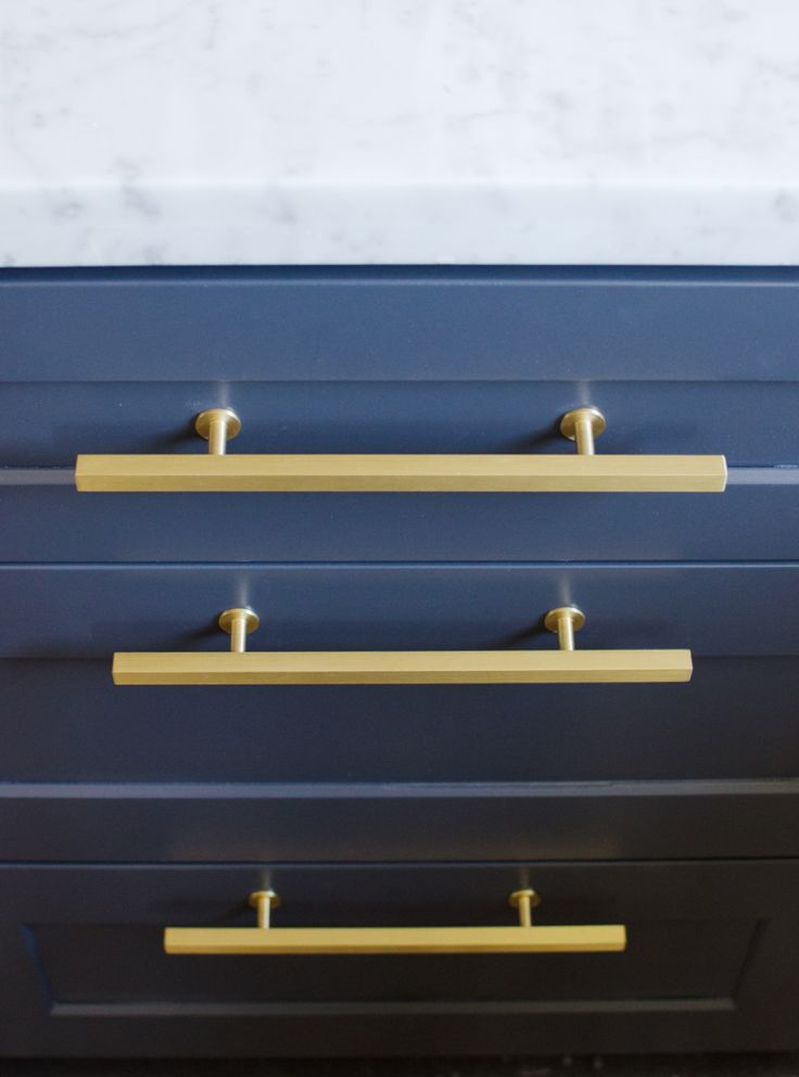 83 best Lew\'s Hardware: Brushed Brass Knobs, Bars & Pulls images on ...
