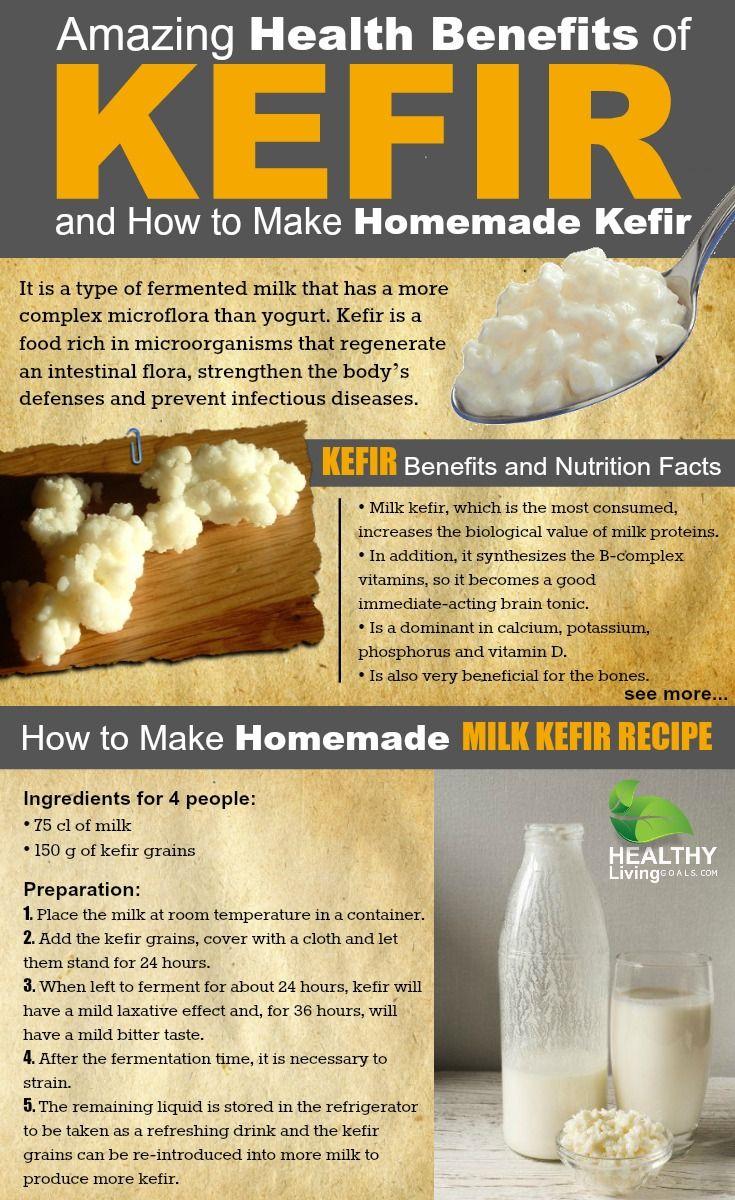Amazing Health Benefits of Kefir and How to Make Homemade Kefir - kefir grains, kefir health benefits, kefir probiotics @100dayswellness