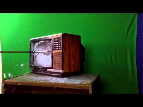 Hi-Speed TV Destruction at the Expense of our Green Screen Way you need to add your #family #kid #baby #child #children http://ift.tt/1Jcz4mO