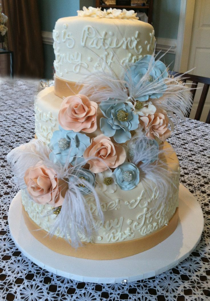 peach and light blue wedding cake 19 best amp blue wedding cake ideas images on 18131
