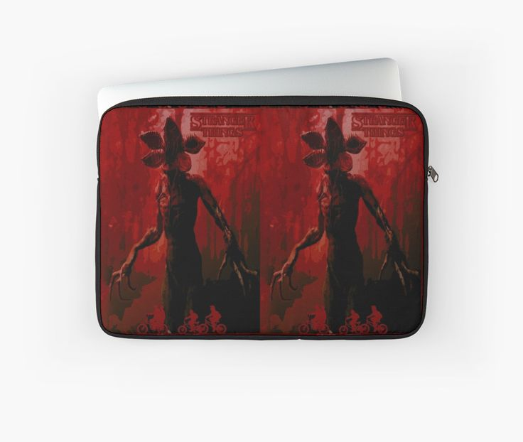 Stranger Things Laptop Sleeve  by scardesign11 #laptopcase #laptopsleeve #coollaptopcases #buylaptopcases #stranger_things #strangerthingslaptopcase #strangerthingslaptopsleeve #disappearance #boy #netflix #paranormal #xfiles  #strange #odd #spooky #supernatural #thriller #sciencefiction #scifi #sci_fi #winona_ryder #scary #monster #cooltshirts #horrorposter #buycoolposters #pop #culture #80s #style #retro