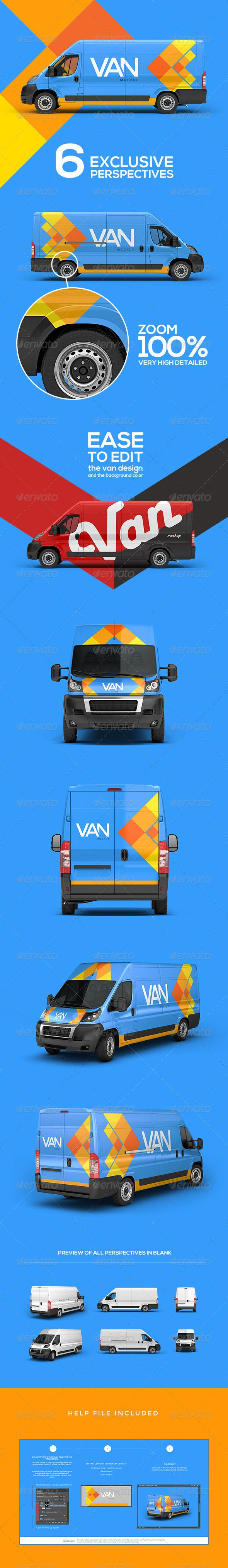 Van Mockup | #automockup #carmockup | Download: http://graphicriver.net/item/van-mockup/6992810?ref=ksioks